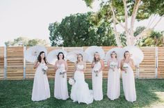 Vintage Glam Backyard Wedding: Heather + Kyle love these colors NO umbrellas though