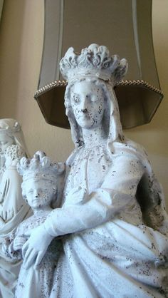 Our Lady of Victory Statue Mary Queen of Heaven by edithandevelyn on Etsy