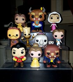 Funko Pop Beauty and the Beast. This might be cute to display at the cake table Pop Disney, Disney Pixar, Film Disney, Pop Figurine, Figurines Funko Pop, Funko Figures, Funk Pop, Pop Bobble Heads, Disneysea Tokyo