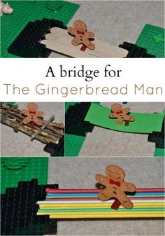 The Gingerbread Man science experiments linked to the story. Make a bridge, soak gingerbread men in different substances and more gingerbread man science Traditional Stories, Traditional Tales, Preschool Christmas, Christmas Activities, Preschool Winter, Gingerbread Man Activities, Gingerbread Men, Gingerbread Man Kindergarten, Christmas Gingerbread