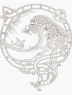 Rune Tattoo, Norse Tattoo, Viking Tattoos, Celtic Knots, Celtic Symbols, Celtic Art, Viking Designs, Celtic Designs, Tattoo Grafik
