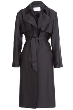Satin Trench Coat from CÉDRIC CHARLIER | Luxury fashion online | STYLEBOP.com