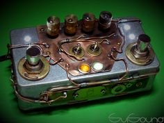 #Steampunk style for my new #guitar #pedal #overdrive #booster #OverZoid+