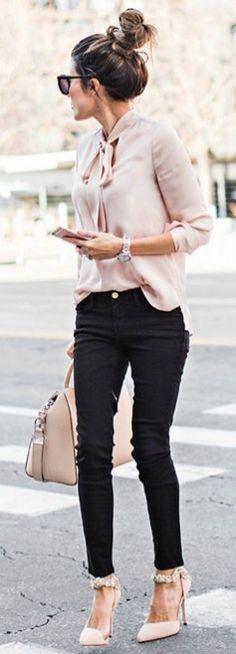 Casual blazer outfit for women (157)