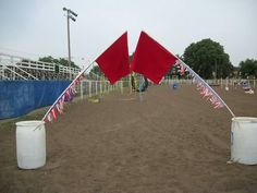 Flag trail obstacle