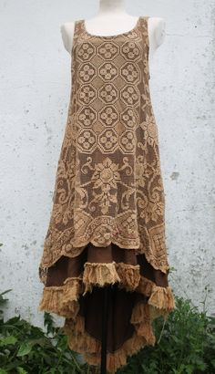 the bohemian ruffled lace dreamers long dress     by linusmanus, €155.00