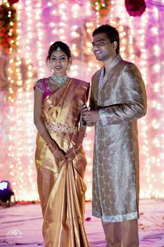 Discover thousands of images about Beautiful indian wedding. Lovely looking indian bride & groom! Indian Wedding Couple, Indian Bride And Groom, Saree Wedding, Bridal Sarees, Wedding Wear, Wedding Bride, Telugu Brides, South Indian Weddings, Saree Trends