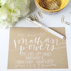 Envelope Addressing Envelope Calligraphy Wedding by WestSheridan