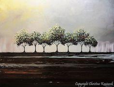 CUSTOM Art Abstract Painting Trees Green von ChristineKrainock