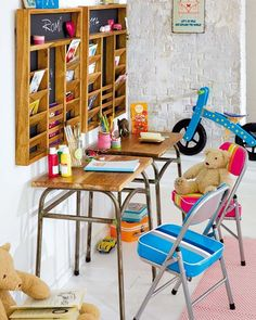 so cool this vintage kids room!