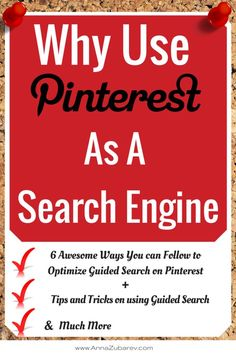 6 Awesome Ways you can Follow to Optimize Guided Search on Pinterest via @AnnaZubarev. #PinterestStrategy