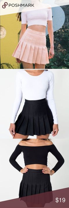 American Apparel Black Tennis Skirt Perfect condition, fits a small or a medium. I got a medium for the length but I'm usually a small and it fits me :) American Apparel Skirts