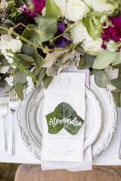 898 best Wedding Place Setting & Table Setting Ideas images on ...