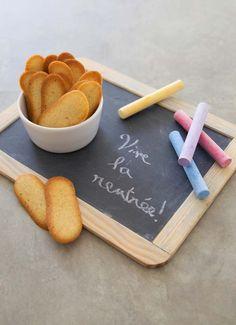 Photo de la recette : Langues de chat à la cannelle