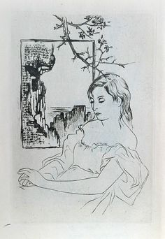 Toyen, Snící dívka ruční heliogravura, 1938 Marie Čermínová (1902, †1980, ), known as Toyen, was a female Czech painter, drafter and illustrator and a member of the surrealist movement. Max Ernst, Art Academy, Magritte, Surreal Art, Prague, Caricature, Art Nouveau, Illustrator, Art Gallery