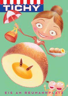 Tichy ice cream - Poster Illustration - Ingrid Aspöck