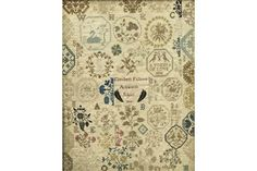 An early 19th century Quaker Ackworth School medallion sampler by Elizabeth Fallows, 1806 Worked Cross Stitch Samplers, 19th Century, Auction, Embroidery, Fine Art, Rugs, Antiques, School, Farmhouse Rugs