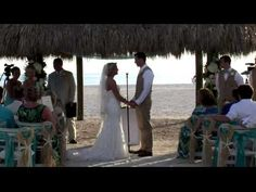 Casey and James   Beach Wedding Highlights Marco Marriott - YouTube