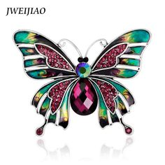 JWEIJIAO New Europe Retro Enamel Butterfly Brooch Pin Women Jewelry Insect Wedding Corsage Brooches X0021 //Price: $US $3.66 & FREE Shipping //     #hashtag4