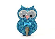 Owl hook Hanger for kids room decore turquoise Nursery decoretion kids wall hook , Children's room by PrettymShop on Etsy https://www.etsy.com/uk/listing/257956508/owl-hook-hanger-for-kids-room-decore