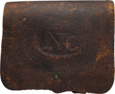 "Military & Patriotic:Civil War, Union .58 Caliber Cartridge Box, The ""US"" Altered to ""NC"".... Image #1"