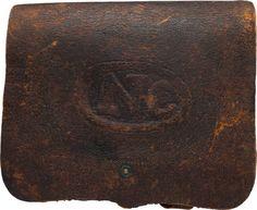 "Military & Patriotic:Civil War, Union .58 Caliber Cartridge Box, The ""US"" Altered to ""NC"".... Image #1"