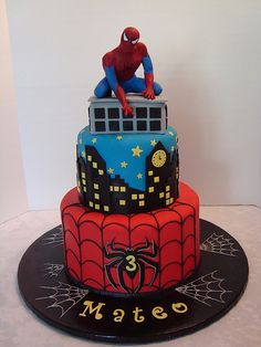 Spiderman Cake | Sarah Orr | Flickr