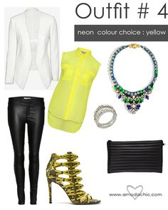 www.amodachic.com on the blog today we dip into splashes of neon! Check out our chic outfit choices!