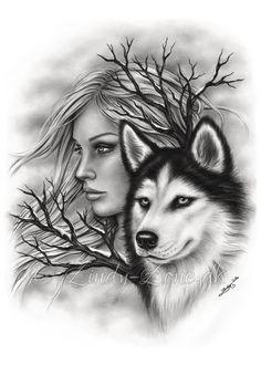 Winter Souls Wolf Girl