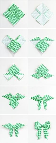 Gathering Beauty: Diy Origami Bow. Oragami Bow, Easy Oragami, Origami Simple, Origami Art, Origami Garland, Origami Gifts, Origami Ideas, Origami Paper Folding, Bows For Gifts