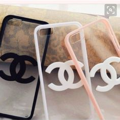 phone cover clear iphone 6 case with chanel logi Girly Phone Cases, Cheap Phone Cases, Iphone 6 Cases, Iphone 6 Plus Case, Iphone 5c, Chanel Phone Case, Accessoires Iphone, Coque Iphone 6, Monogram