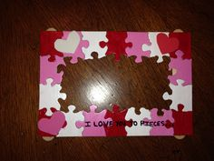 Valentines day craft - picture frame- for toddler