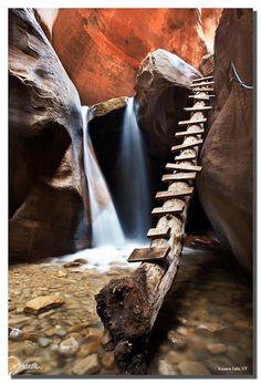 Tobacco Pipe Ladder, Kanarra Creek Falls, Kanarraville