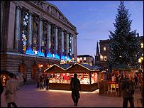 The German Christmas market  is a great place to find festive treats for your friends and family.