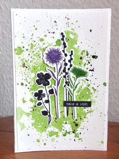 Die schlichte Karte: Peaceful Wildflowers von My Favorite Things