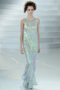 Chanel | Spring 2014 Couture Collection  I always liked dresses with sneakers.