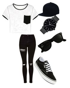 """""""yep I'd wear it"""" ❤ liked on Polyvore featuring Topshop, Vans, Ray-Ban and The Horse"""