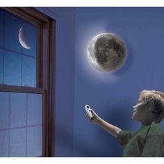 Phase Changing Sensor Wall Night Light Moon Design, Wall Design, Night Light, Light Up, Waxing And Waning, Can Lights, Light Sensor, Three Dimensional, Moonlight