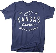 Shirts By Sarah Men's Kansas State Nickname Shirt America's Bread Basket T-Shirts Est. 1861