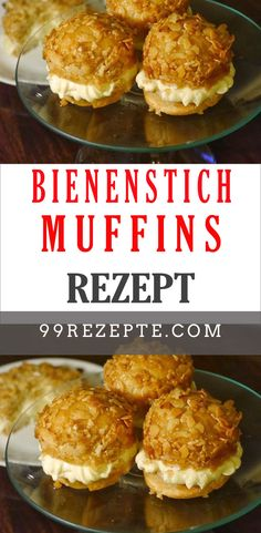 Bee sting muffin recipe Sometimes it doesn& have to be a whole cake, just a few delicious muffins. Like these bee sting muffins with a dreamy pudding cream filling. Healthy Peanut Butter, Peanut Butter Banana, Quick Dessert Recipes, Cake Recipes, Nutella, Chocolate Hazelnut, Cupcakes, Crockpot Recipes, Dairy Free