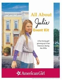 Julie Printable Activities can use historical character marketing sheets and crafts to work on fun patches about the past American Girl Books, American Girl Doll Julie, American Girl Parties, American Girl Crafts, American Girl Clothes, American Girls, Girl Doll Clothes, Activities For Girls, Brownie Girl Scouts