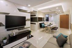 trendy home renovation singapore living rooms Tv Wall Design, Ceiling Design, Workspace Design, Home Office Design, Lcd Units, Living Room Tv Unit Designs, Bedroom Layouts, Room Interior Design, Trendy Home