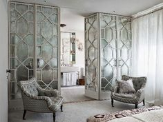 mirrored room divider - Google Search