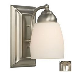 Galaxy 4-1/2-in W Barclay 1-Light Brushed Nickel Arm Wall Sconce