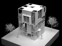 younghan chung visualizes modular house Join - the global place for architecture Maquette Architecture, Architecture Model Making, Architecture Sketchbook, Chinese Architecture, Concept Architecture, School Architecture, Architecture Details, Interior Architecture, Interior Design