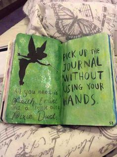 Pick up this journal with out using your hands!