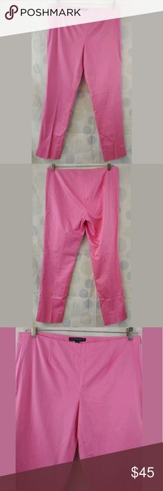 Women's Brooks Brothers 346 Natalie Fit Pink SZ 12 Hello and thank you for checking out my items! We list new items every single day so check back often for great deals!  Women's 346 Brooks Brothers Ankle Pants  Size 12 Natalie Fit  Solid Pink  98% Cotton, 2% Spandex  29.5 Inch Inseam  9.5 inch rise  36 inch waist  Side Zip Brooks Brothers Pants Ankle & Cropped
