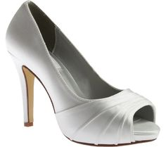 Women's Dyeables Bea Peep Toe Pump - White Satin with FREE Shipping & Exchanges. The Bea Peep-Toe Pump exudes sophistication and instant allure. The flirty peep-toe and subtle