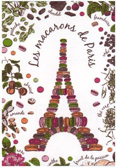 Torchons et Bouchons Macarons de Paris  - paño de cocina: cenadero^-^