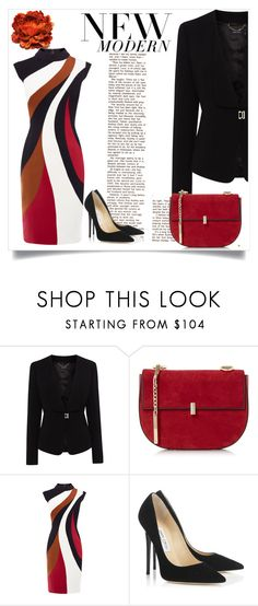 """""""Bright new beginnings."""" by chanlee-luv ❤ liked on Polyvore featuring Karen Millen and Jimmy Choo"""